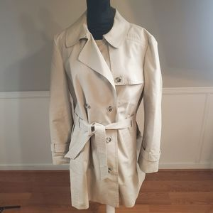 Ann Taylor Loft Trench Coat with Floral Lining